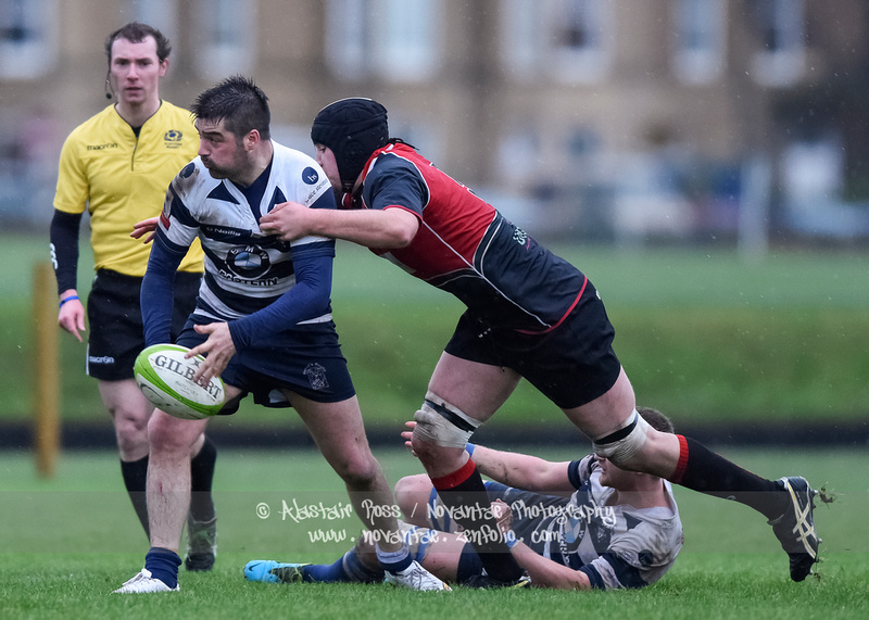Action from Heriots RFC vs Glasgow Hawks in the BT Premiership at Goldenacre, Edinburgh Photo Credit: Alastair Ross / Novantae Photography