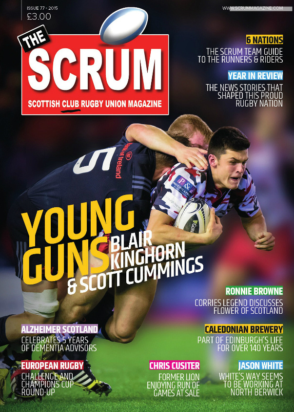 Cover picture )SCRUM Magazine Issue 77) by Alastair Ross / Novantae Photography. Professional Sports,Event & Wedding Photography, Edinburgh, Scotland.