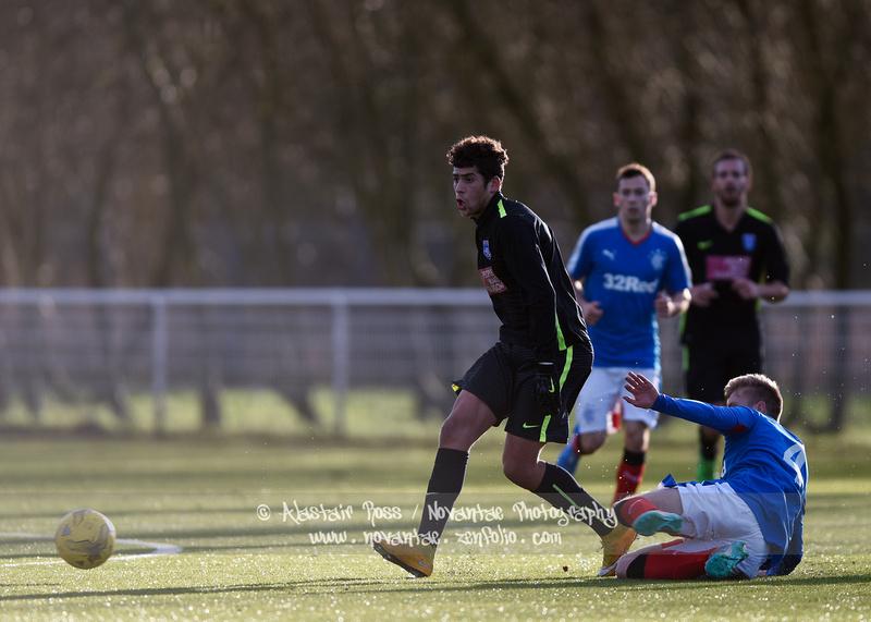 Action from Glasgow Rangers vs Edusport Academy. Alastair Ross / Novantae Photography